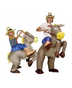 Inflatable Cowboy Dinosaur Costume Ride Halloween Cosplay