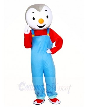 T'choupi Baby Penguin Mascot Costumes Cartoon