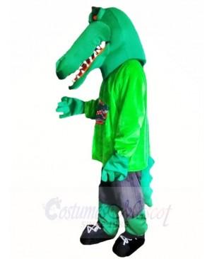 Green Muscle Croc Crocodile Alligator Mascot Costumes Animal
