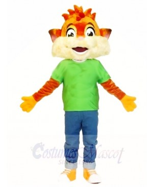 Fox in Green Shirt Mascot Costumes Animal