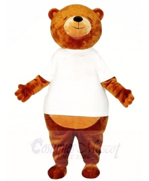 Brown Sleepy Bear Mascot Costumes Animal