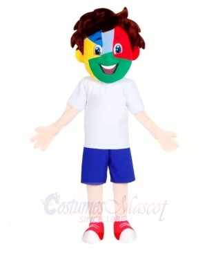 Football Fan Boy Mascot Costumes People