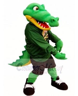 Green Athlete Alligator Mascot Costume Crocodile Mascot Costumes