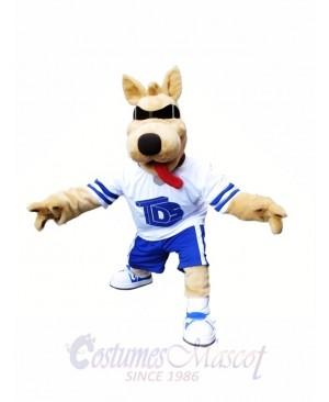 Dog with Sunglasses Mascot Costume Beach Buddy Dog Mascot Costumes Animal