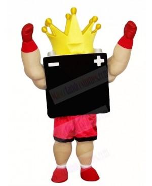 Black Battery King Mascot Costumes