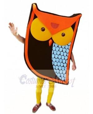 Cartoon Orange Owl Mascot Costumes Animal