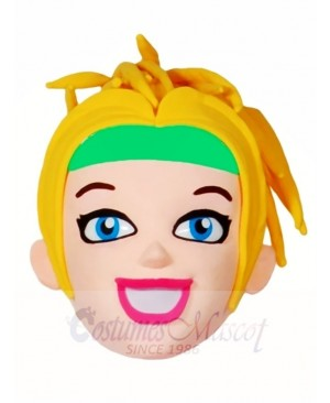 Blonde Cheerleader Head Only Mascot Costumes People