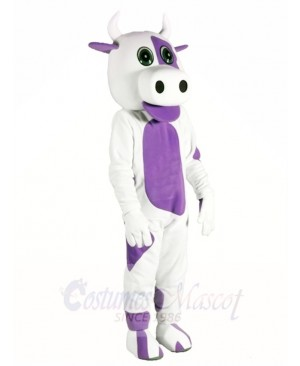 White Cow with Purple Belly Mascot Costumes Animal