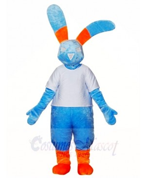 Blue Rabbit Mascot Costumes Bunny Hare Animal