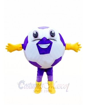 Custom Color Purple Ball Football Mascot Costumes