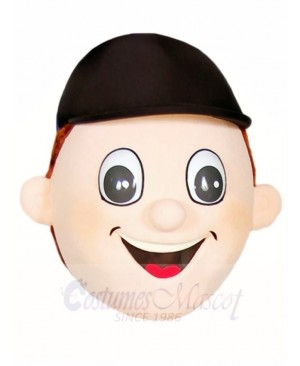 Boy with A Hat Head ONLY Mascot Costumes People