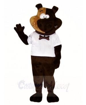Brown Dog Mascot Costumes in White Shirt Animal
