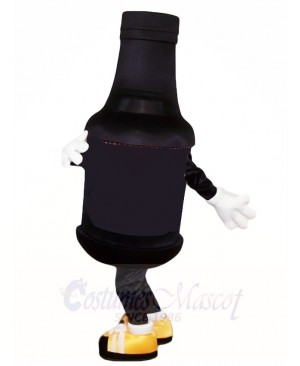 Black Beer Bottle Mascot Costumes Drink