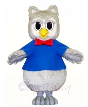 Gray Owl with Red Tie Mascot Costumes Animal