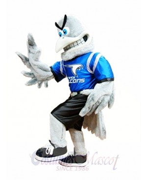 Gray Falcon Mascot Costume Grey Hawk Mascot Costumes