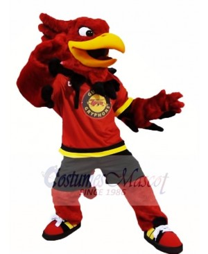 Red Gryphon Griffin Mascot Costumes