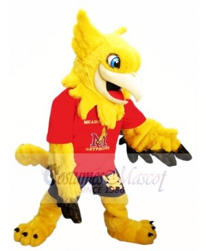 Yellow Gryphon Griffin Mascot Costumes
