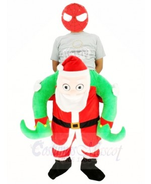 Piggyback NEW Santa Claus Carry Me Ride on Father Christmas Mascot Costumes