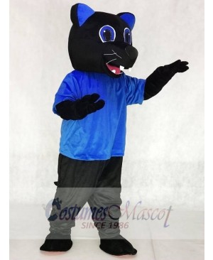 Royal Blue Sir Purr Mascot Costumes Carolina Black Panthers