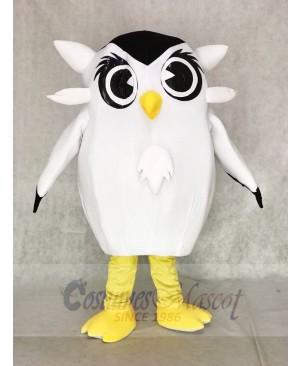 Cute White Owl Mascot Costumes Bird Animal