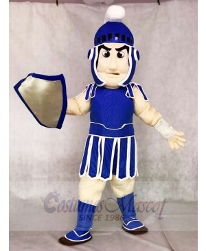 Dark Blue Spartan Trojan Knight Sparty Mascot Costumes with Shield People
