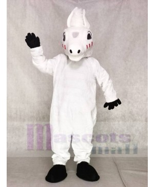 Cute White Horse Mascot Costumes Animal