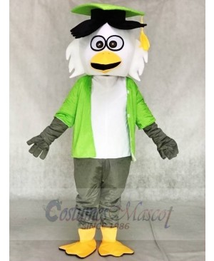 Green Shirt Doctor Owl Mascot Costumes Animal