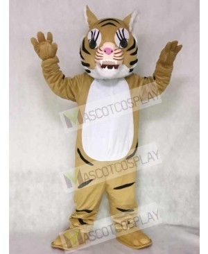 Brown Big Cat Tiger Mascot Costume