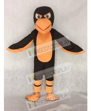Black and Orange Falcon Mascot Costume