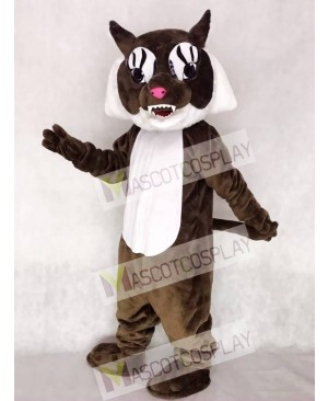Cute Super Brown Wildcat Cat Mascot Costume
