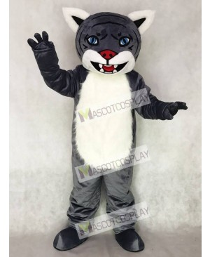Cute New Gray Wildcat Cub Mascot Costume