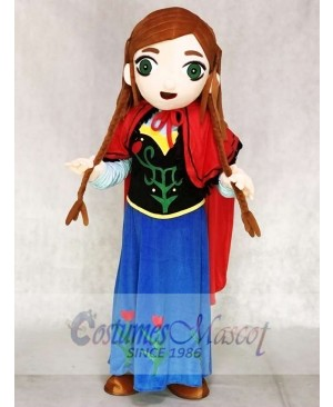 Frozen Princess Anna Mascot Costumes Cartoon
