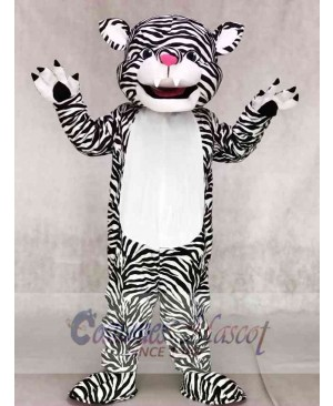 Black and White Tiger Mascot Costumes Animal