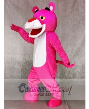 Pink Panther Mascot Costumes Cartoon Fancy Dress Outfit