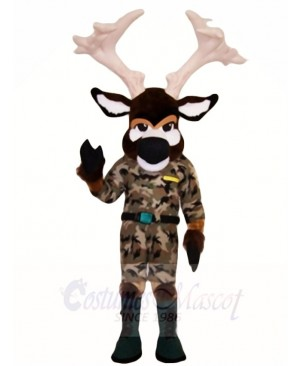 Moose in Battle Fatigues Mascot Costumes Animal