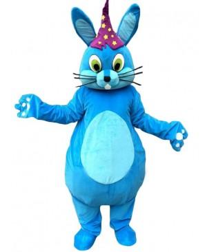 Blue Easter Bunny Rabbit Mascot Costume