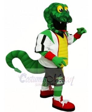 Green Snake Rattlers Mascot Costume