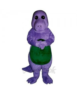 Purple Dinosaur Mascot Costume
