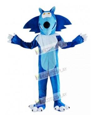Blue Wolf Coyote Mascot Costume