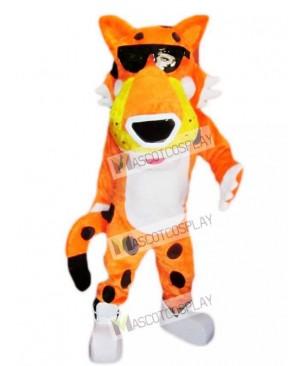 Cute Orange Chester Cheetah Mascot Costume