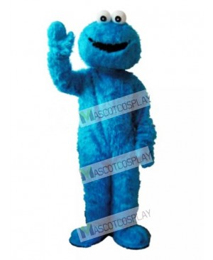 Sesame Street Blue Cookie Monster Mascot Costume Fancy Dress Adult Party Carnival Halloween Christmas Mascot Free Shipping