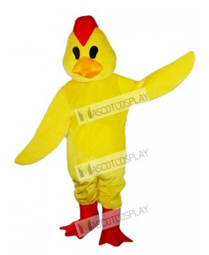 Yeollw Chick Rooster Cock Mascot Costume