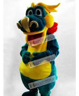 Big Mouth Green Dino Dinosaur Mascot Costume Animal