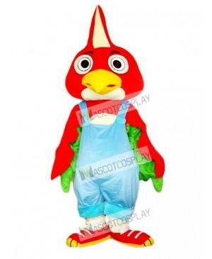 Red Parrot Bird Mascot Costume