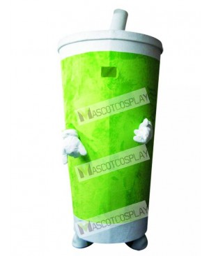 Green Sippy Cup Drinks Tumbler Mascot Costume