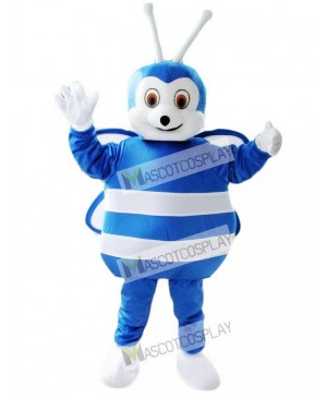 Lovely Blue and White Bee Mascot Costume