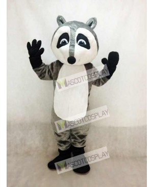 Grey Raccoon Mascot Costume Animal