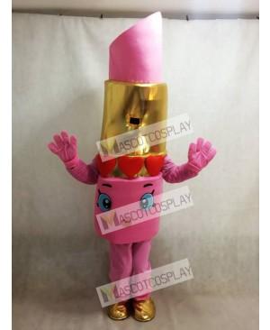 Pink Lippy Lips Lipstick Mascot Costume