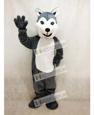 Hot Sale Adorable Realistic New White and Grey Husky Dog Mascot Costume