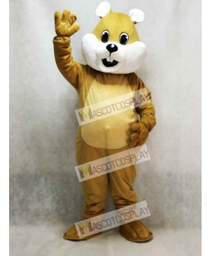 Chubby Squirrel Mascot Costume with White Belly